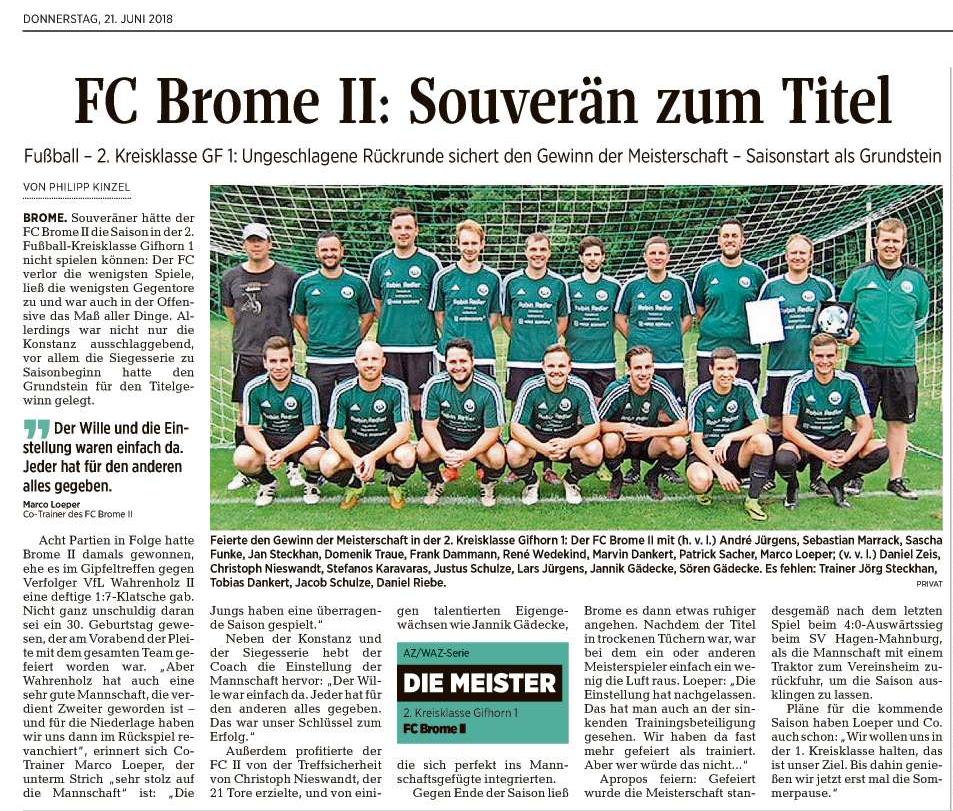 Hauptversammlung - Sparte Fußball @ Sportheim FC Brome